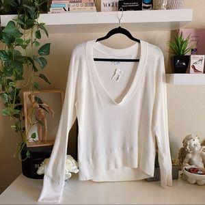 Blue life NWT white ribbed long sleeve sweater